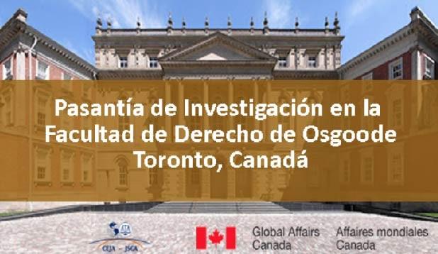 CEJA abre convocatoria para cuatro pasantías en Canadá