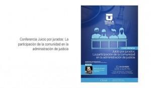 Conferencia Juicio por jurados: La participación de la comunidad en la administración de justicia