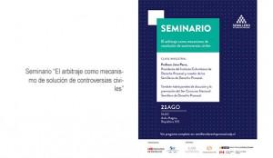 """Seminario """"El arbitraje como mecanismo de solución de controversias civiles"""""""