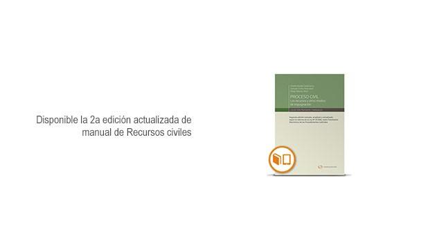 Disponible la 2a edición actualizada de manual de Recursos civiles