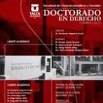 Abiertas postulaciones a doctorado en Derecho de la U. de Talca
