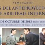 Análisis y discusión de Anteproyecto de ley de arbitraje interno