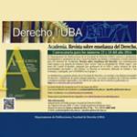 Convocatoria Academica: Revista sobre enseñanza del derecho