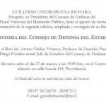"""Presentación del libro """"33 años de historia del Consejo de Defensa del Estado (1963-1996)"""""""
