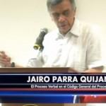 Intervención del profesor Jairo Parra Quijano