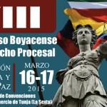 """VIII Congreso Boyacense de Derecho Procesal """"Educación, Justicia y Paz"""""""