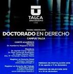 Abierta convocatoria para postular a Doctorado en Derecho U. Talca