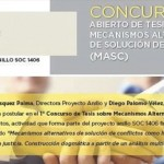 Primer concurso de tesis sobre mecanismos alternativos