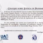 Coloquio sobre Justicia de la Proximidad en U. de Antofagasta