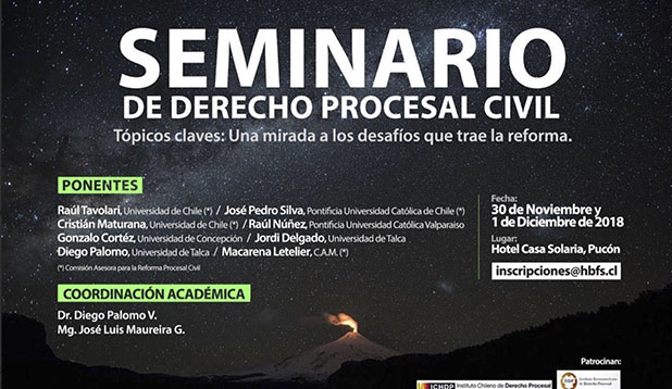 Seminario de Derecho procesal Civil en Pucón