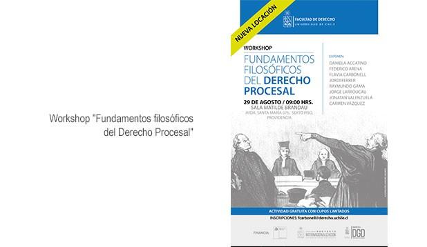 """Workshop """"Fundamentos filosóficos del Derecho Procesal"""""""